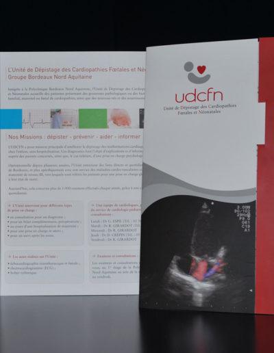Plaquette UDCFN par l'agence c'est d'ici communication santé à Bordeaux