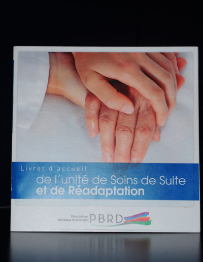 Livret d'accueil pour la Polyclinique de Bordeaux Rive Droite par l'agence c'est d'ici communication santé à Bordeaux