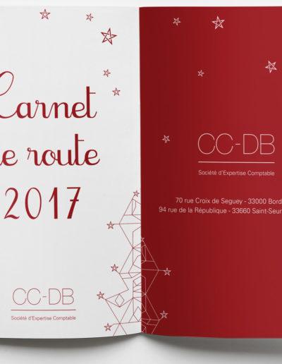 Carnet de route voeux CCDB expert comptable par C'est d'Ici communication santé à Bordeaux