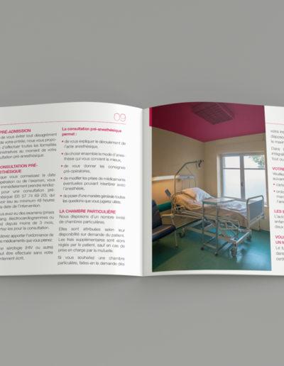 Livret d'accueil clinique chirurgicale du Libournais par l'agence c'est d'ici communication santé à Bordeaux