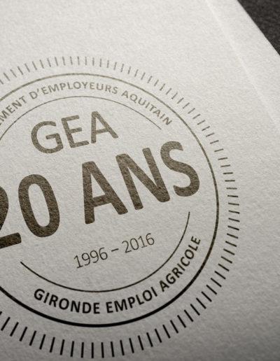 Logo pour les ans du groupement GEA par C'est d'Ici communication santé à Bordeaux