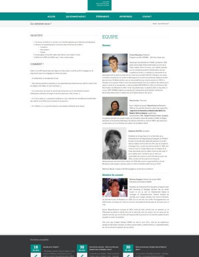Site web Arca réalisé par C'est d'Ici communication santé à Bordeaux page équipe