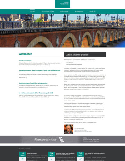 Site web Arca réalisé par C'est d'Ici communication santé à Bordeaux