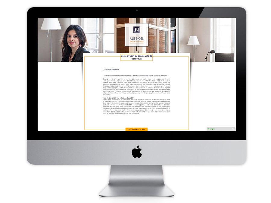 Maître Julie Noel, avocat à Bordeaux : le référencement de son site web