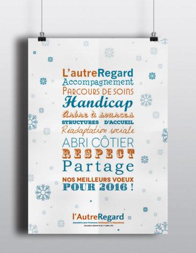 Affiche Association l'Autre Regard réalisée par l'agence de communication C'est d'ici C10i santé à Bordeaux