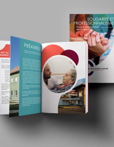 Brochure pour la fondation Bocké par C'est d'Ici communication santé à Bordeaux