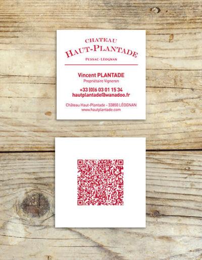 Déclinaison papeterie du château Haut-Plantade réalisée par l'agence de communication C'est d'ici spécialisée en santé et bien-être à Bordeaux et Léognan