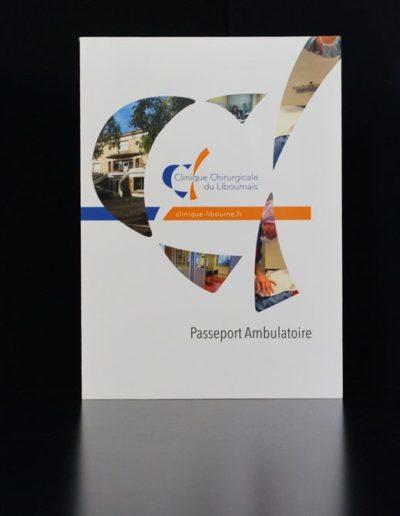 Passeport Ambulatoire de la Clinique Chirurgicale du Libournais réalisée par l'agence de Communication C'est d'ici C10i santé à Bordeaux