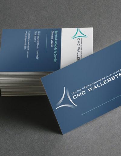 Réalisation des cartes de visite du centre médico-chirurgical et maternité CMC Wallerstein à Bordeaux par l'agence de communication C10i santé