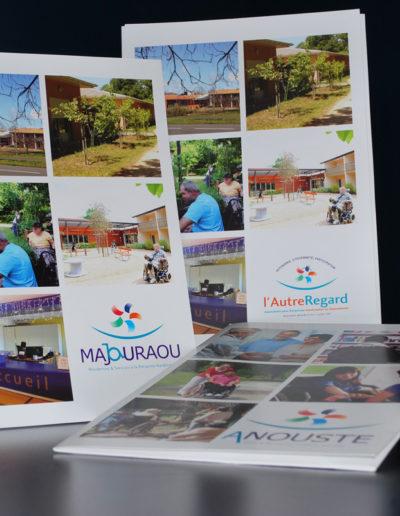 Livret d'accueil de l'association Majouraou par l'agence c'est d'ici communication santé à Bordeaux