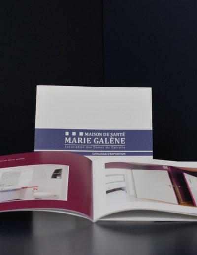 Réalisation du catalogue de l'exposition par l'Agence de commiunication Santé Ci à Bordeaux