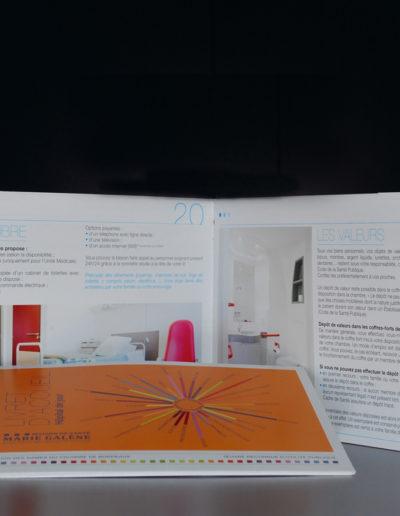 papeterie pour la Maison de Santé Marie Galène par l'agence c'est d'ici communication santé à Bordeaux