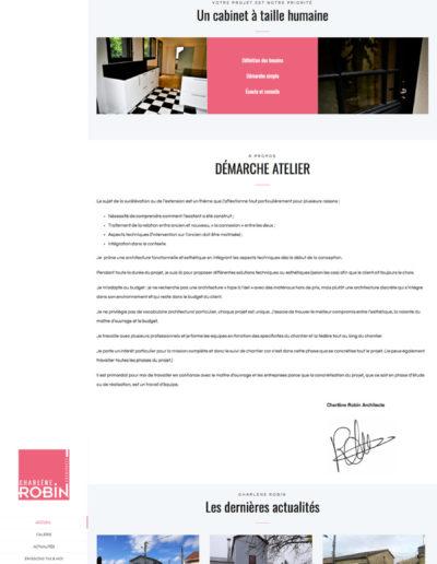 Mockup site web de Charlène robin