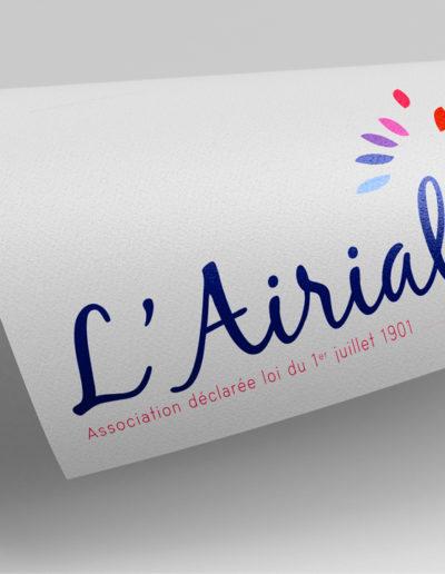 Logo de L'airial par l'agence c'est d'ici communication santé à Bordeaux