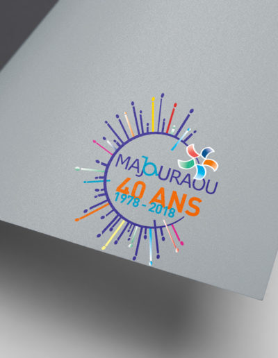 Réalisation d'un logo pour l'association Majouraou par l'agence c'est d'ici communication santé à Bordeaux