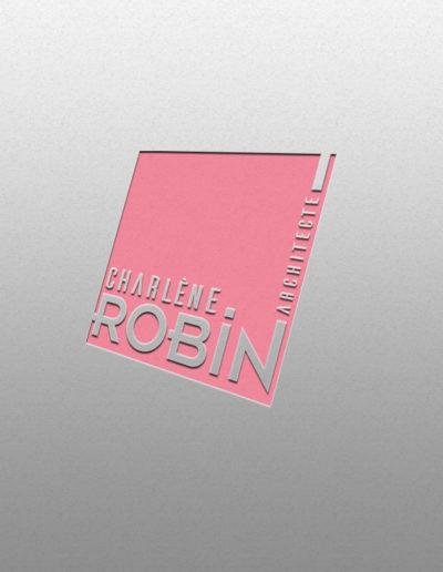 Logo de l'Architecte Charlène Robin réalisé par l'agence C'est d'ici spécialisé en communication santé et bien-être