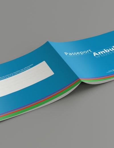 Passeport Ambulatoire NCBA réalisé par l'agence de communication c10i santé à Bordeaux
