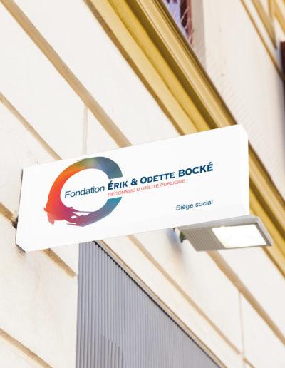 signalétique fondation Bocké par C'est d'Ici communication santé à Bordeaux