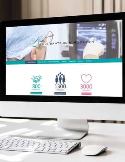 Réalisation du site internet du CMC Wallerstein par l'agence de communication C10i santé à Bordeaux