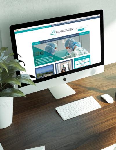 Réalisation du site internet du CMC Wallerstein par l'agence de communication digitale C'est d'ici c10i spécialisée en santé et bien-être à Bordeaux