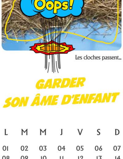 calendrier pour le cabinet CCDB par l'agence c'est d'ici santé communication à Bordeaux