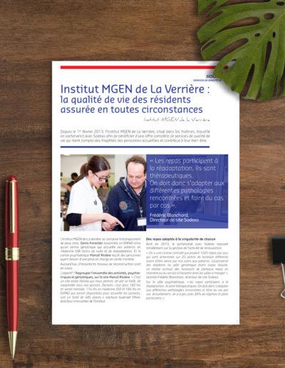 Plaquette commerciale Institut MGEN de la Verrière