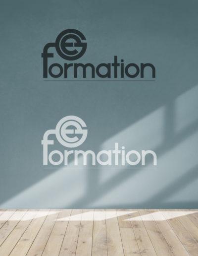 Réalisation et déclinaison en Black and white du logo de Ge Formation