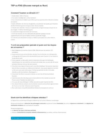 Mockup de la réalisation du site internet du pôle scintigraphie du groupe Bordeaux Nord