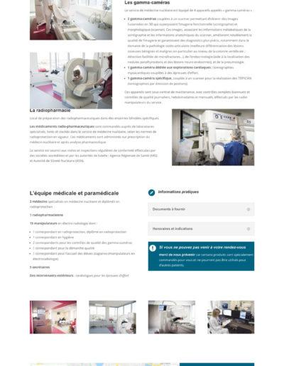 Mockup de la réalisation du site internet du pôle scintigraphie de Bordeaux Nord