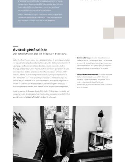 visueil du site web de Maître Benoît avril par l'agence C10i santé à bordeaux