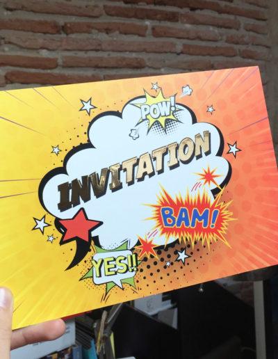 Invitation réalisée par l'agence C10i communication santé à Bordeaux
