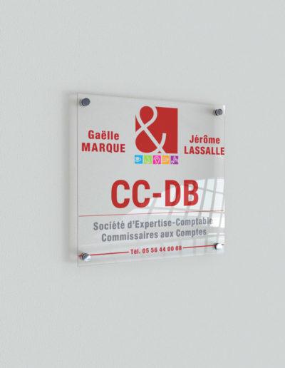 Signalétique cabinet d'Expert Comptable CC-DB