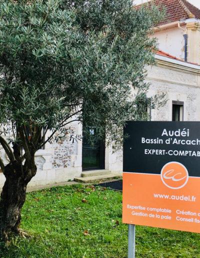 signalétique réalisée pour le cabinet Audéi