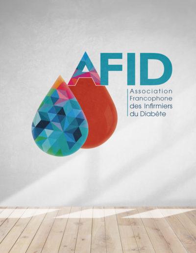 mockup-logo-afid-association-diabète-infirmiers-creation-visuel-identite-c10i-cestdici-communication-sante-bordeaux